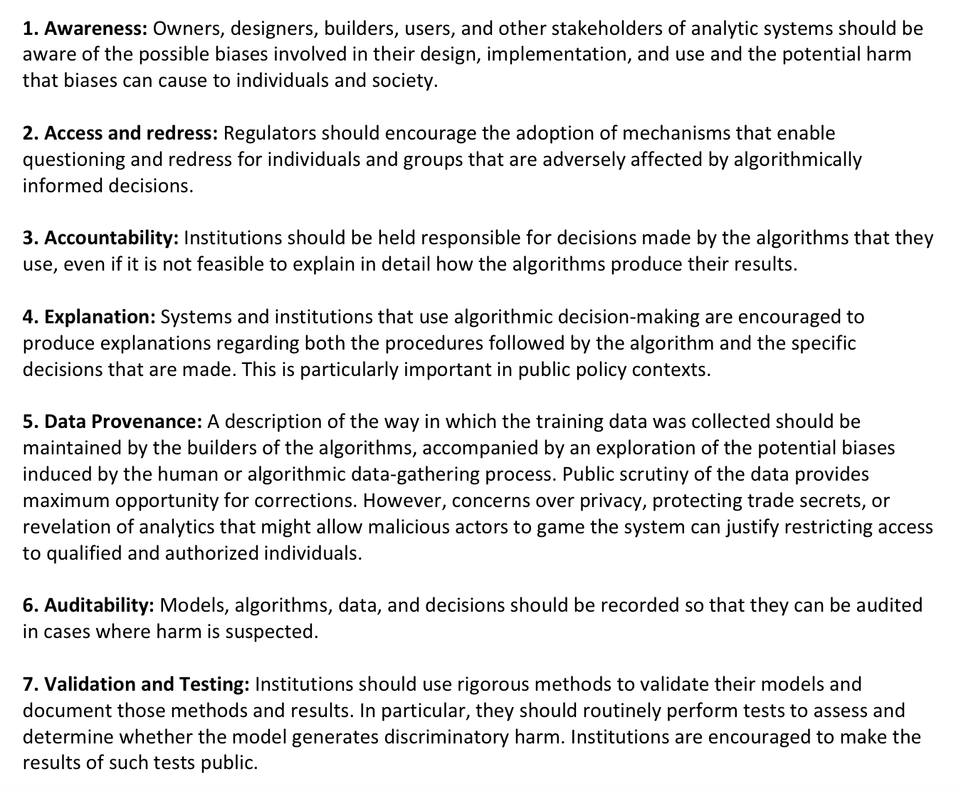 Principles For Algorithmic Transparency And Accountability A